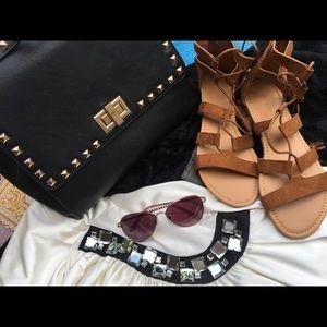 Forever 21 camel color gladiator sandals size 6-8